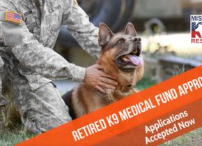 Retired K9 Veterinary Fund Opens